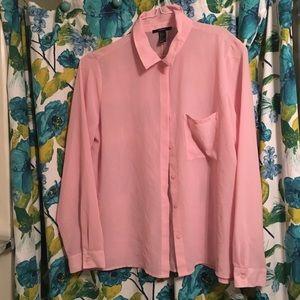 Pink Semi sheer blouse